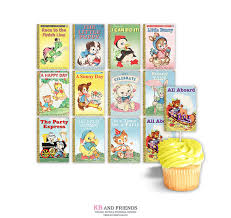 printable cupcake toppers for storybook themed party or baby