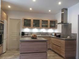 cuisine sans meuble haut cuisine sur mesure sans poignae installae a st inspirations avec