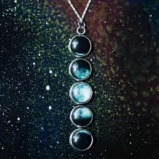 moon necklace images Moon phase necklace silver astronomy lover jewelry uncommongoods jpg