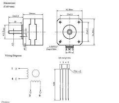 2pcs 3d printer nema17 reprap cnc stepper motor with single flat