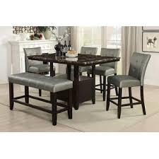 amb furniture 6 pc arenth ii collection espresso finish wood
