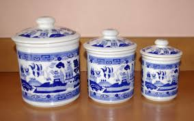 blue and white kitchen canisters entrancing 80 blue kitchen canister sets design inspiration of