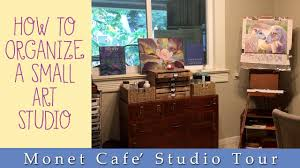 How To Organize A Small Desk by How To Organize A Small Studio Space Youtube