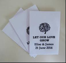 Plantable Wedding Invitations Remarkable Plantable Seed Paper Wedding Favors Recycled Paper
