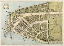 New Orleans Street Map by When Wall Street Was A Wall A 1660 Map Of Manhattan Curbed Ny