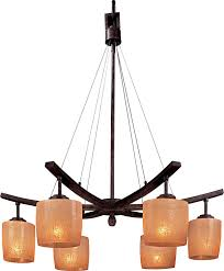 Minka Lighting Chandeliers Minka Lavery 1186 357 Raiden 6 Light Chandelier Iron Oxide