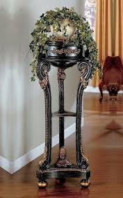 Plant Pedestal Plant Stand With Drawer Foter