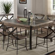 square rustic dining table