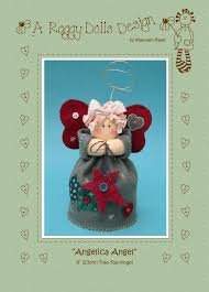 details about angelica tree top angel felt sewing craft pattern