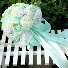 mint green flowers 5 colors mint green artificial flowers wedding bridesmaid bouquets