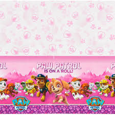 paw patrol pink plastic table cover 54