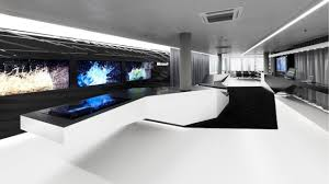 tech office design diverting office furniture then also futuristic concept office