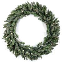 prelit artificial wreaths