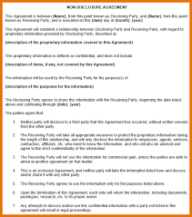 8 non disclosure agreement template free itinerary template sample