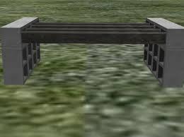 second life marketplace cinder block bench 11 li full perm