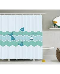 Fishing Shower Curtain Shower Curtain Ocean Waves Fishing Art Print For Bathroom