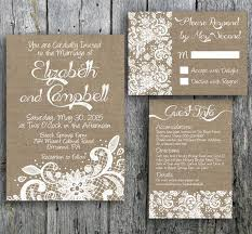 burlap and lace wedding invitations burlap and lace wedding invitation 2344970 weddbook