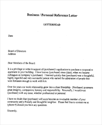 personal reference letter sample for co op board huanyii com