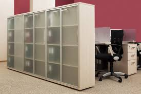 Tall White Bookcase With Doors by Tall And Large White Wood Book Shelf With Six Frosted Glass Doors