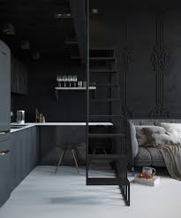 white loft small black and white loft by max lykasov u0026 tatiana shishkina via