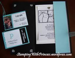 Invitation Pocket Wedding Invitation Pocket Card Stamping With Princess