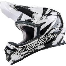 white motocross gear oneal 3 series shocker black white motocross helmet quad mx