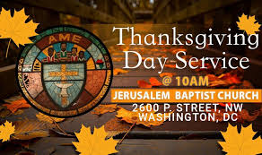 thanksgiving day worship service join us ebenezer ame church