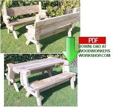 Woodworking Plans For Picnic Tables by 24 002 Folding Picnic Table And Bench Seat Combination Pdf