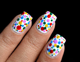 color spots colorful polka dots nail art designs youtube