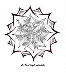 symectrical spiderweb flower tattoo by artistryavenue on deviantart