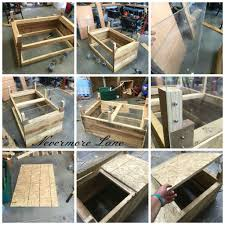 Homemade Dog Beds Pallet Wood Dog Bed With Storage Diy Upcycle Palletwood