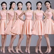 online shop robe de soire short elegant satin bridesmaid dress to