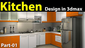 kitchen design program free kitchen design in 3d max part 01 youtube