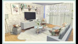 Blue Livingroom Sims 4 Cozy Blue Living Room Download Cc Creators Links