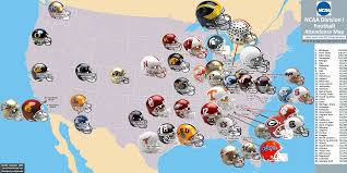 Colleges In Virginia Map by Ncaa Fb U003eattendance Map Billsportsmaps Com