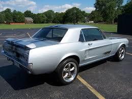 67 Mustang Black 1967 Mustang Cpe 289v8 Silver Black Stripes Runs Great
