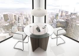 table ronde de bureau bureau direction b select coloris bois cèdre et table de réunion