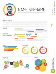 infographic resume templates original cv resume template stock vector illustration of layout