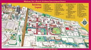 Okc Map Bricktown 2005 Map Downtown Oklahoma City