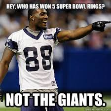 Giants Cowboys Meme - hey who has won 5 super bowl rings not the giants dallas