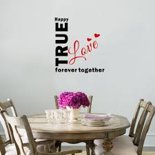 aliexpress com buy creative true love wall sticker together