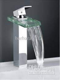 2017 classic design faucet waterfall square glass kitchen bathroom