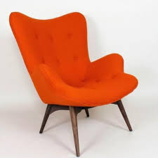 Retro Accent Chair Burnt Orange Accent Chair Recliner Home Decor Chairs Best