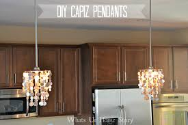 How To Make A Fake Chandelier Diy Capiz Chandelier