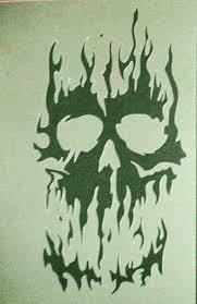 fire flame skulls airbrushing stencils template mask car motorbike
