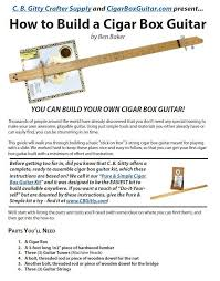 how to build a 3 string cigar box guitar free plans