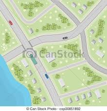free maps and driving directions map with driving directions top view illustration in eps
