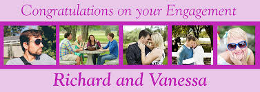 Congratulations Engagement Banner Personalised Engagement Party Banners Personalised Banners