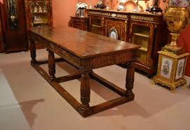 Refectory Dining Tables Antique English Oak Refectory Dining Table Xix C