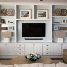 Styled Family Room Bookshelves Shelving Room And Living Rooms - Family room built in cabinets